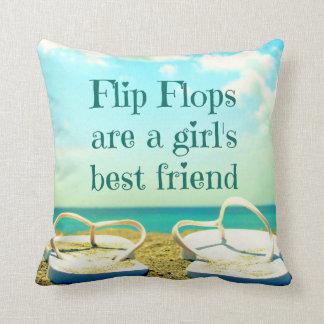 Flip Flops Quote Pillow