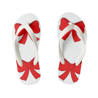 Flip Flops, Red Bow Kids Kid's Flip Flops