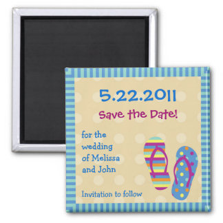 Flip Flops Save The Date Magnet