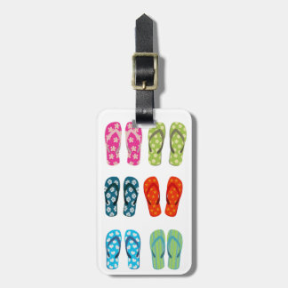 Flip Flops Six Pack Luggage Tag
