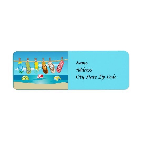 Flip Flops Summer Address Label