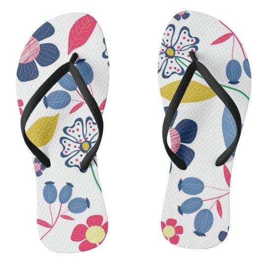 Flip Flops Summer Floral