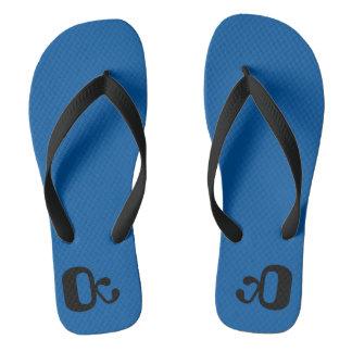Flip-flops, summer shoes, one, blue, black flip flops