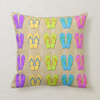 Flip Flops Throw Pillow