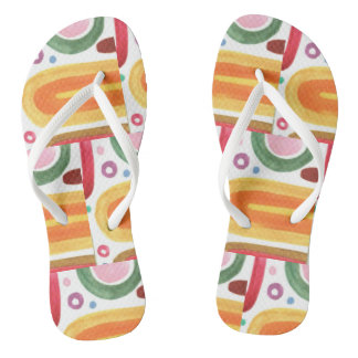 Flip flops with abstract design