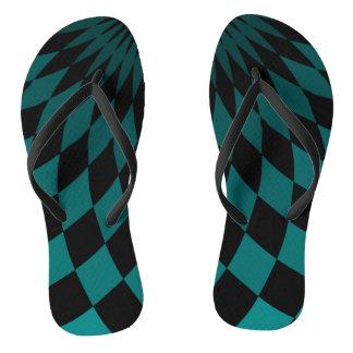 Flip Flops - Wonderland Floor Turquoise