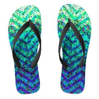 Flip Flops Zig Zag Sparkley Texture