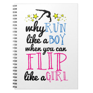 Flip Like a Girl Empowerment Gymnastics Notebook