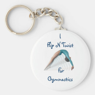 Flip N Twist,  For Gymnastics Basic Round Button Keychain