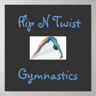 Flip N Twist, Gymnastics Poster