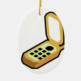 Flip Phone Ceramic Ornament