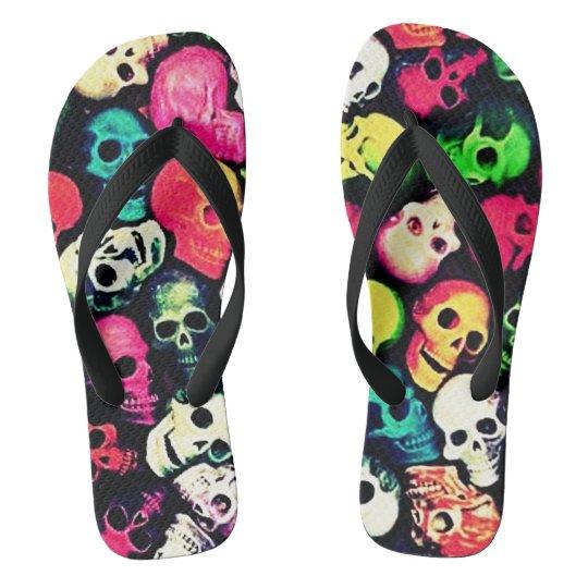Flip Pop Candy Skulls Unisex Flip Flops