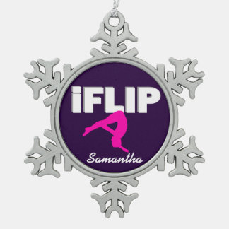 Flip Tumbling gymnast ornament