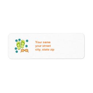 Flipflop sunglasses address label