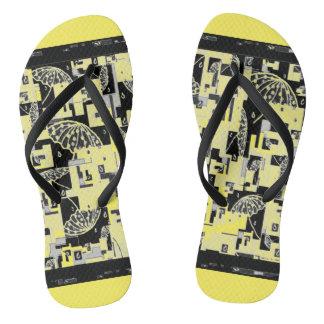 Flipflops for women Yellow,Black Flip Flops