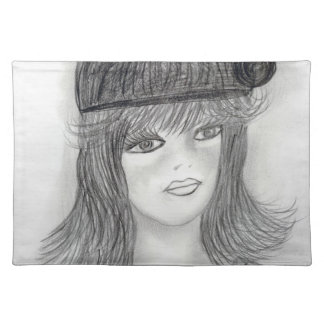 Flipped Hair Flapper Placemat