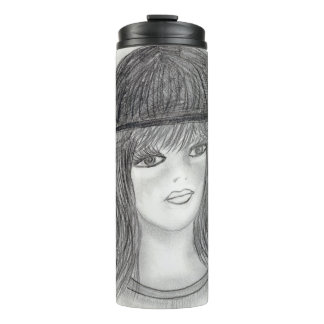 Flipped Hair Flapper Thermal Tumbler