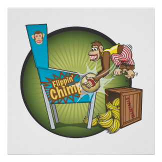 Flippin' Chimp Poster