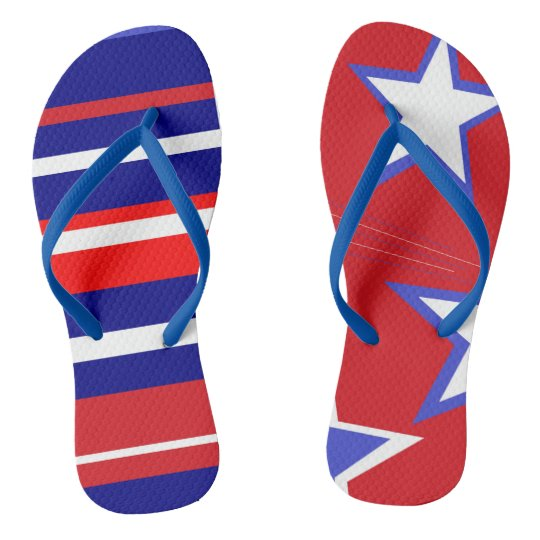 FLIPPY FLOPS - RED, WHITE, BLUE COLLECTION! FLIP FLOPS