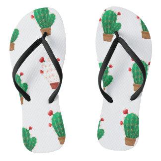 Flips flops with cactus flip flops