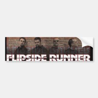 Flipside Runner Bumper Sticker