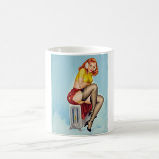 Flirt 1952 Pin Up Art Coffee Mug