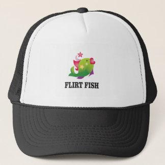 flirt fish yeah trucker hat