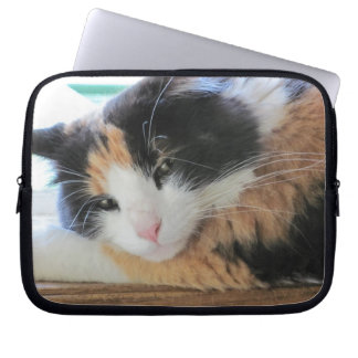 Flirtatious Calico Kitty Laptop Sleeve