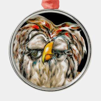 Flirtatious Owl Metal Ornament