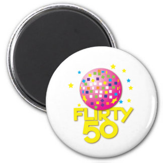 FLIRTY 50 fifty birthday gift present Refrigerator Magnet
