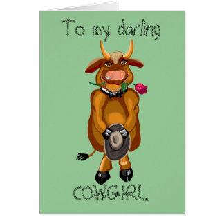 Flirty Cow Card