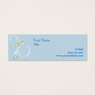 Flirty Floral Blue Calling Card