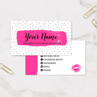 Flirty Fuchsia LipSense Business Card