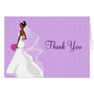 Flirty Lilac Bridal Shower Thank You Card