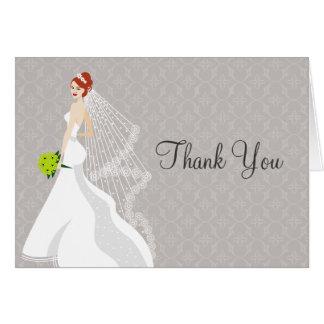 Flirty Mist Bridal Shower Thank You Card