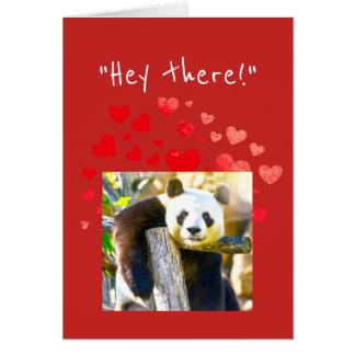 Flirty Panda Bear Make Valentine's Day Special Card