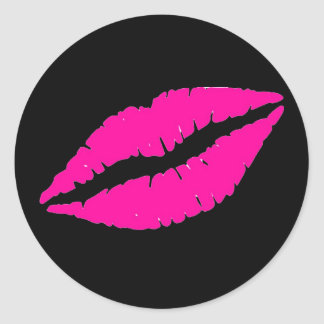 Flirty Pink Lipstick Stickers