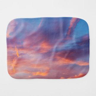 flirty sky burp cloth