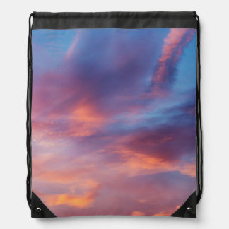 flirty sky drawstring bag