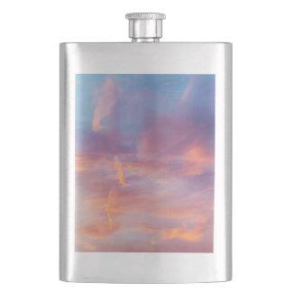 flirty sky hip flask