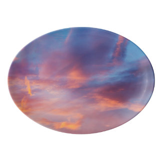 flirty sky porcelain serving platter