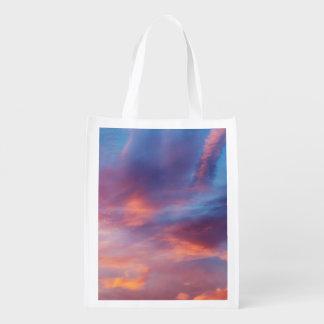 flirty sky reusable grocery bag