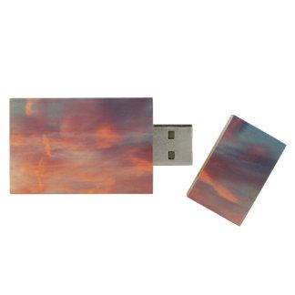 flirty sky wood USB flash drive