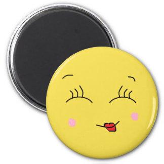 Flirty Smiley Face  Refrigerator Magnet