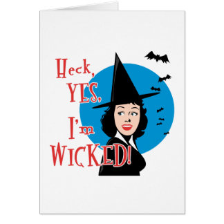 Flirty Wicked Witch Card