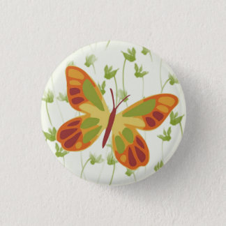 Flitting Butterfly in Grass 1 Inch Round Button
