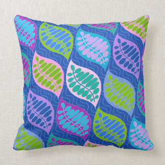 Float Away Modern Pillow Blue