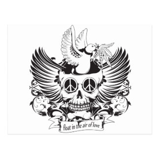 Float in Love skull Postcard