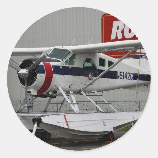 Float plane 24, Lake Hood, Alaska Classic Round Sticker