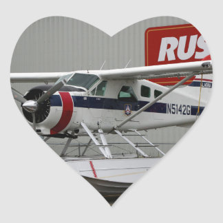 Float plane 24, Lake Hood, Alaska Heart Sticker